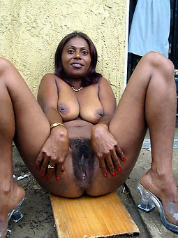 attractive black hairy pussy film over